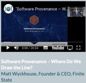 Software Provenance - By Matt Wyckhopuse
